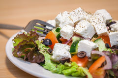 Summer Greek feta salad Royalty Free Stock Photo