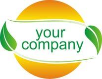 Summer green logo. Vector illustration Royalty Free Stock Image