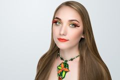 Summer green make up Royalty Free Stock Photos