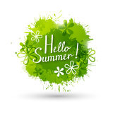 Summer green paint splashes Royalty Free Stock Photography
