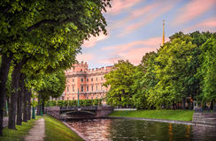 Summer greens at the Mikhailovsky Castle Royalty Free Stock Images