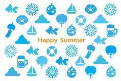 Summer greeting card. Greeting card of Japanese summer Royalty Free Stock Photography