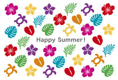 Summer greeting card. A greeting card of tropical summer Stock Photo
