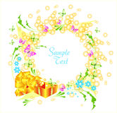 Summer greeting card Stock Photos