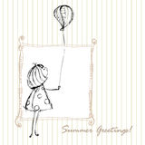 Summer greeting design Stock Images