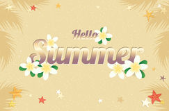 Summer greeting season with Plumeria Flowers or Summer floral De Royalty Free Stock Photography