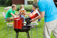 Summer grill stock photo
