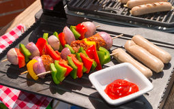 Summer grill party. A fresh summer grill party Stock Images