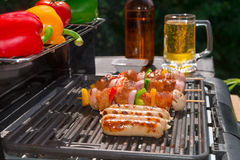 Summer grill party Stock Images