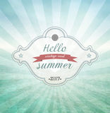 Summer Grunge Vintage Background Royalty Free Stock Photos