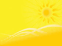 Summer halftone Royalty Free Stock Photography