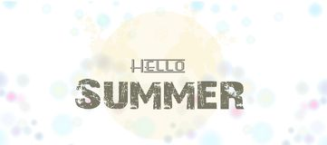 Summer. hallo summer with landscap background. Illustration of Summer. hallo summer with landscap background Royalty Free Stock Images
