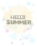 Summer. hallo summer with landscap background. Illustration of Summer. hallo summer with landscap background Royalty Free Stock Photography