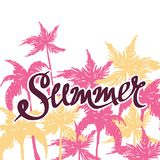 Summer hand drawn background Royalty Free Stock Photography