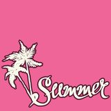 Summer hand drawn background Stock Photos