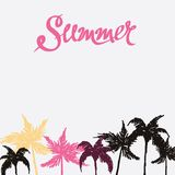Summer hand drawn background Royalty Free Stock Images