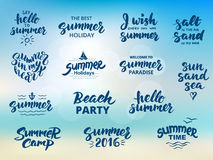 Summer hand drawn brush lettering Stock Images