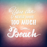 Summer hand drawn calligraphic poster Royalty Free Stock Photography