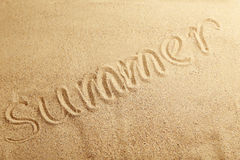 Summer handwritten Royalty Free Stock Photography
