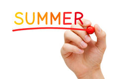 Summer Handwritten With Marker Royalty Free Stock Image
