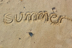 Summer handwritten Stock Image