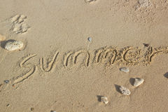 Summer handwritten Stock Photography