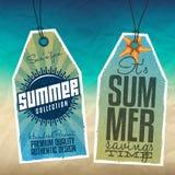 Summer Hang Tags Stock Image