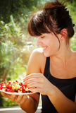 Summer happiness for the woman Stock Photography