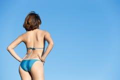 Summer and Happy bikini girl Stock Photo