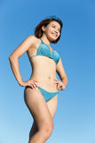 Summer and Happy bikini girl Royalty Free Stock Image