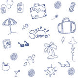 Summer happy holiday doodle Royalty Free Stock Photos