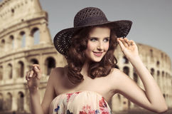 Summer, happy woman Royalty Free Stock Photos