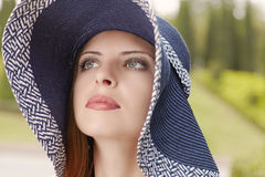 Summer in hat Royalty Free Stock Photo