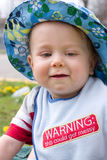 In summer hat. Baby boy in a summer hat Royalty Free Stock Photography