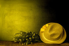 Summer hat background Stock Photo