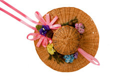 Summer hat for doll Royalty Free Stock Photography
