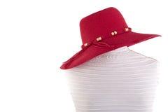 Summer hat on mannequin Stock Photos