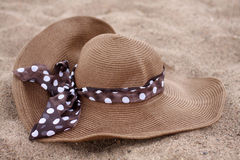 Summer hat on the Sand Royalty Free Stock Images