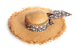 Summer hat. royalty free stock photos