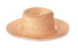 Summer hat on white background. Beach object Royalty Free Stock Image