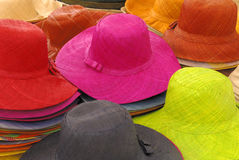 Summer hats Royalty Free Stock Photos