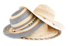 Summer hats Royalty Free Stock Images