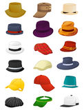 Summer hats for men Stock Photos