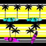 Summer hawaiian surf pattern background Stock Images