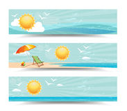 Summer Header Banners Royalty Free Stock Images