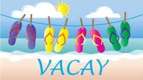 Summer header vacation beach Stock Photography