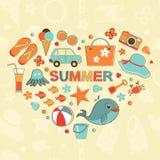 Summer heart Royalty Free Stock Photos