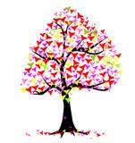 Summer Hearts Tree Royalty Free Stock Image