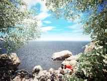 Summer Heat. 3D photorealistic illustration Stock Photography