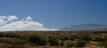 Summer heat on hills near Hapuna beach, Big Island, Hawaii Royalty Free Stock Images